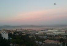 Marseille avec un ciel pollué