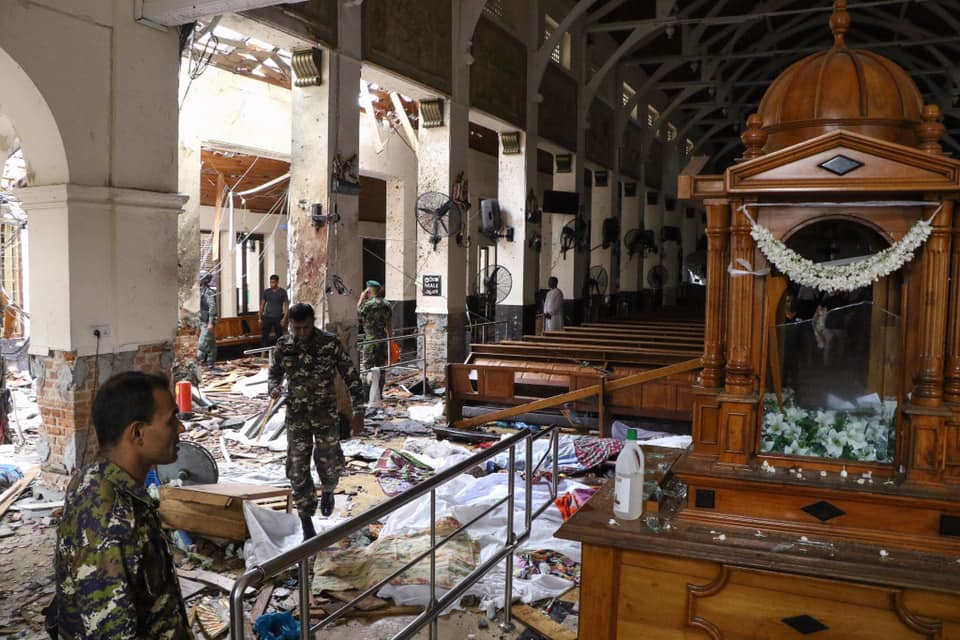 L'une des églises visées par les attentats de dimanche