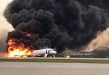 Le Soukhoï Superjet 100 sur le tarmac de l'aéroport de Cheremetievor de Moscou