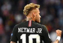 Neymar, lors d'un match du PSG en 2018