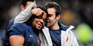 Mathieu Bastareaud lors d'un match avec l'équipe de France