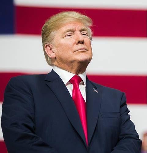 Donald Trump lors d'un discours devant ses partisans