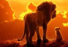 Affiche officielle du film d'animation Le Roi Lion des Studios Disney