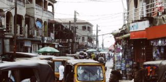 Un quartier populaire de Lagos au Nigeria.