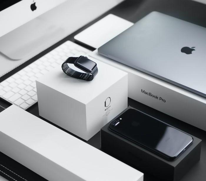 Des produits Apple.