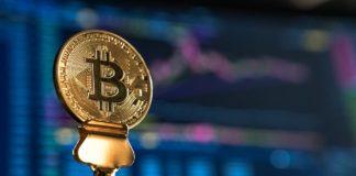 Une pièce de Bitcoin.