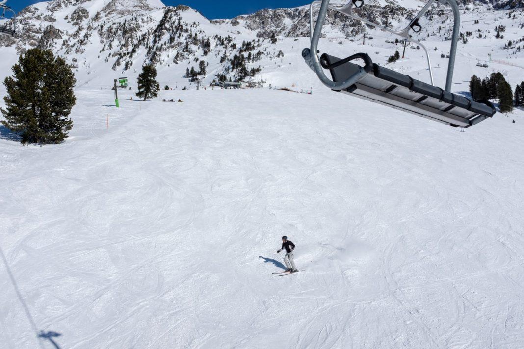 Une station de ski.
